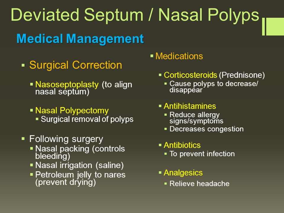 Nasal Balloon Tamponade Deviated Septum  Nasal Polyps