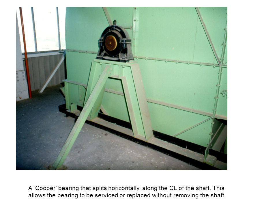 A 'Cooper' bearing that splits horizontally, along the CL of the shaft.