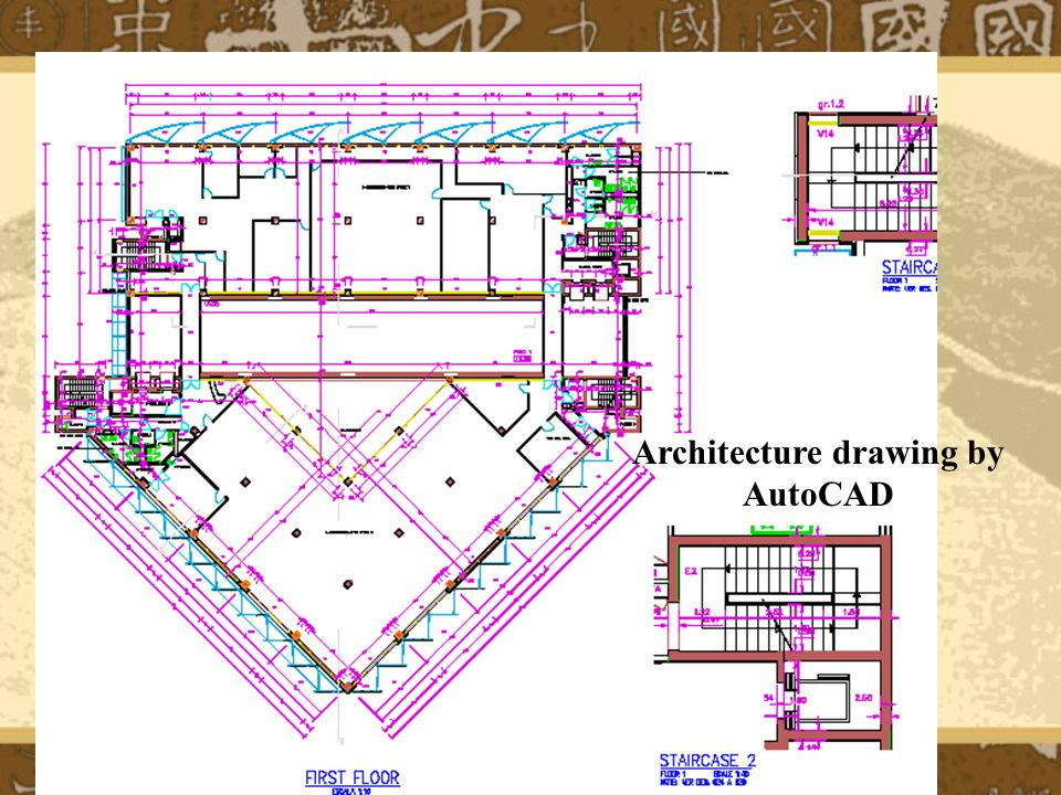 Architecture drawing by AutoCAD