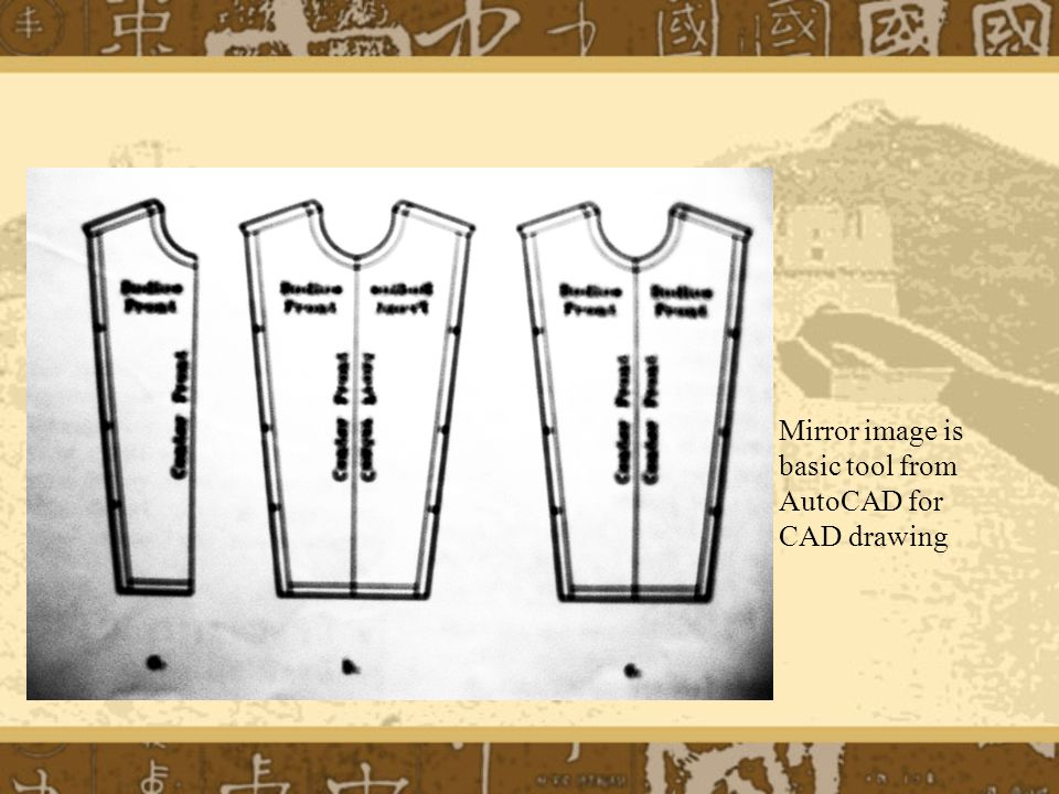 Mirror image is basic tool from AutoCAD for CAD drawing