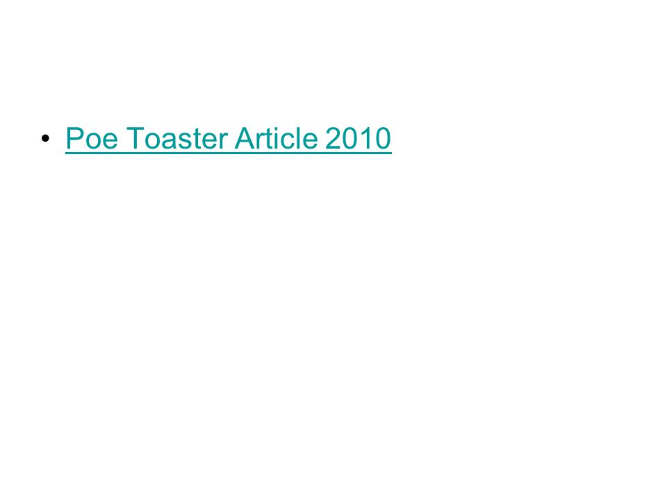 Poe Toaster Article 2010