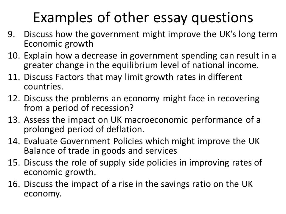 essay question on economics Economics essay economics essay value which argue that the value of a commodity is related to the labor needed to produce or obtain that commodity key questions.