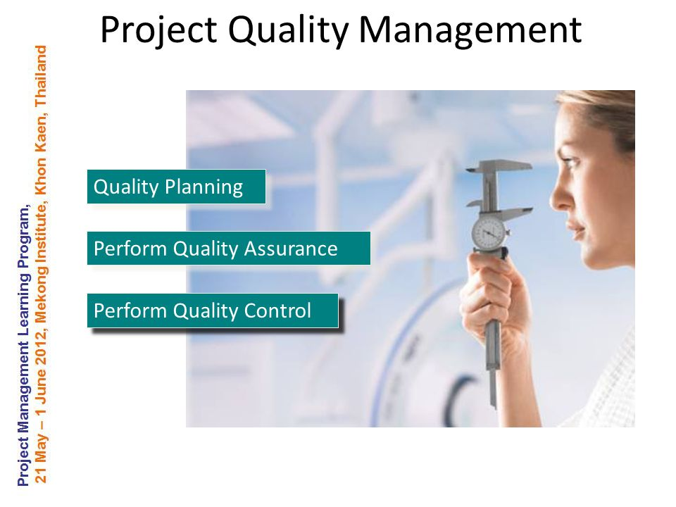Quality Planning Perform Quality Assurance Perform Quality Control