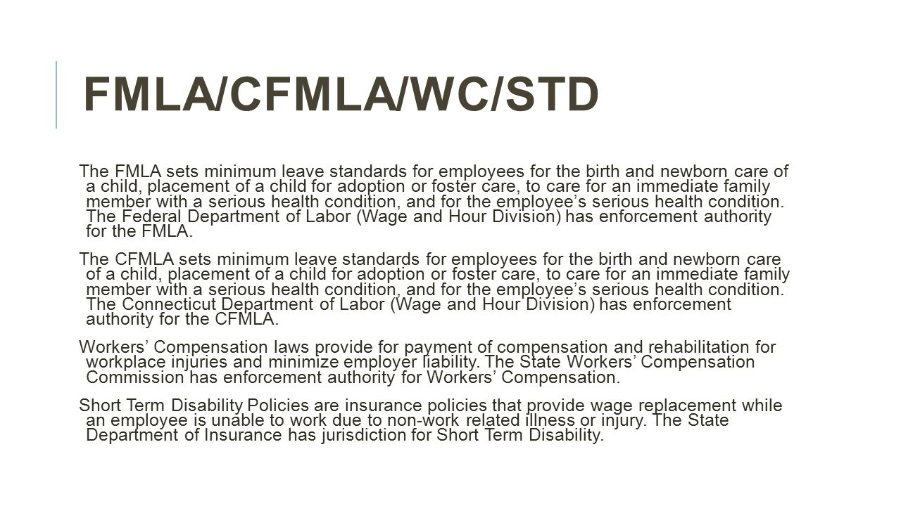 Fmlacfmlawc std an overview of how they interact june 18 4 fmlacfmlawcstd falaconquin