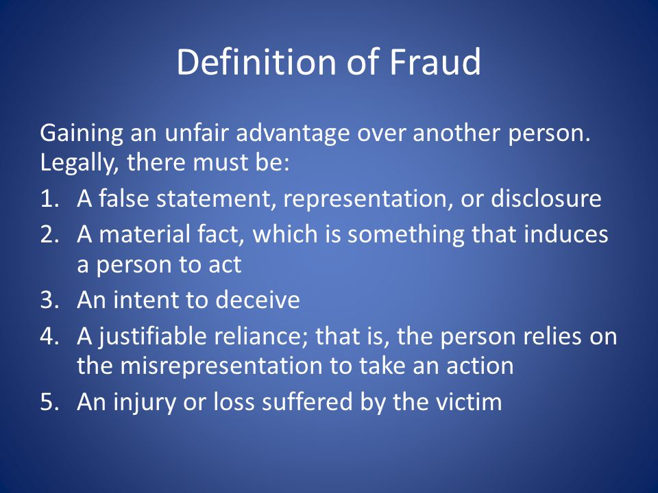 damages and actual loss of fraudulent misrepresentation As a civil wrong in common law jurisdictions, as a civil wrong, fraud is a tortwhile the precise definitions and requirements of proof vary among jurisdictions, the requisite elements of fraud as a tort generally are the intentional misrepresentation or concealment of an important fact upon which the victim is meant to rely, and in fact.