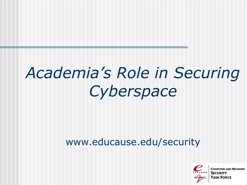 Academia's Role in Securing Cyberspace