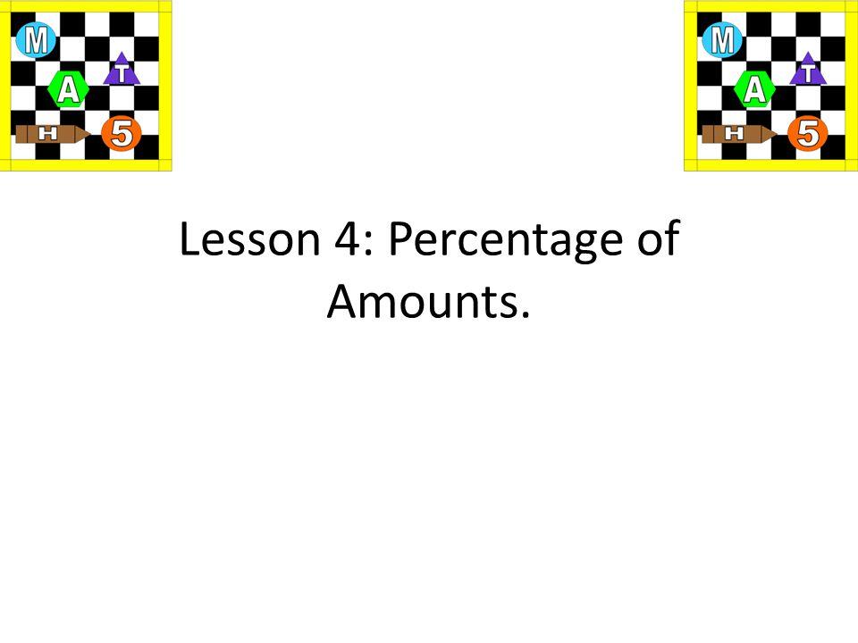 Maths Percentage?