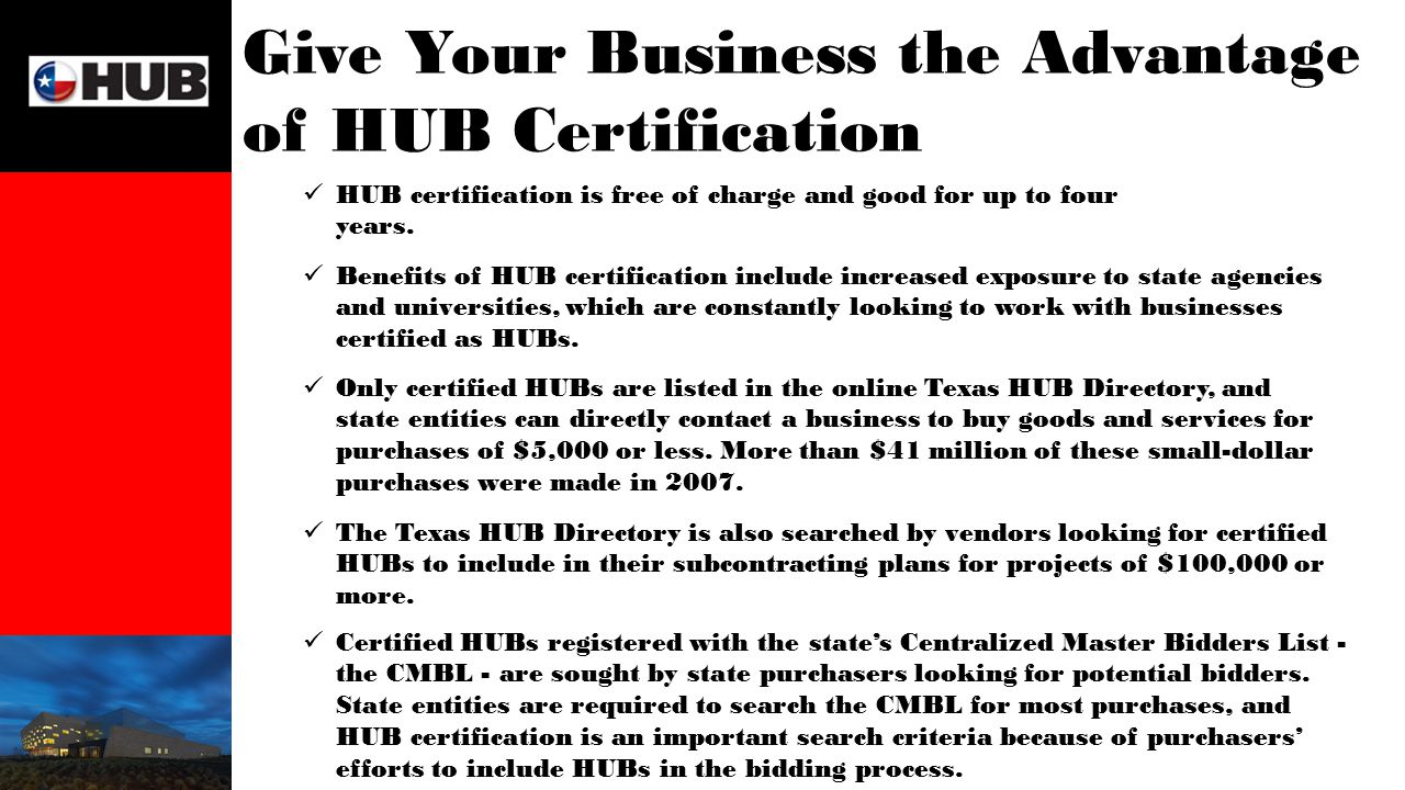 State contracting and the hub program be hub certified be ready give your business the advantage of hub certification hub certification is free of charge and good 1betcityfo Choice Image
