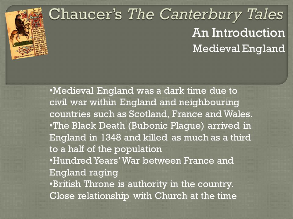 an introduction of the knight in geoffrey chaucers canterbury tales The canterbury tales: the knight's but largely adheres to the original chaucer and is an easier introduction to canterbury tales by geoffrey chaucer read by.