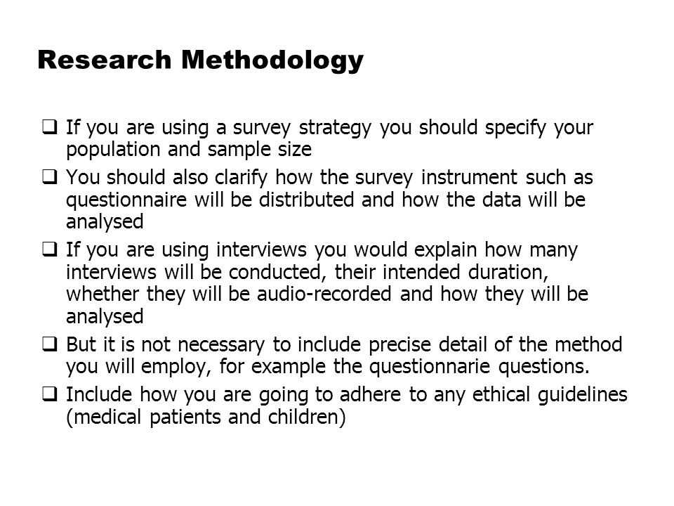 Dissertation Survey Methodology