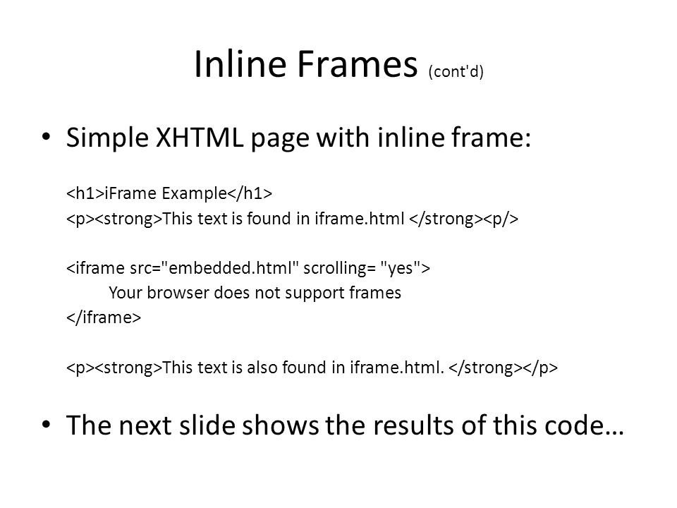 Inline Frame Html Code - New The Best Code Of 2018