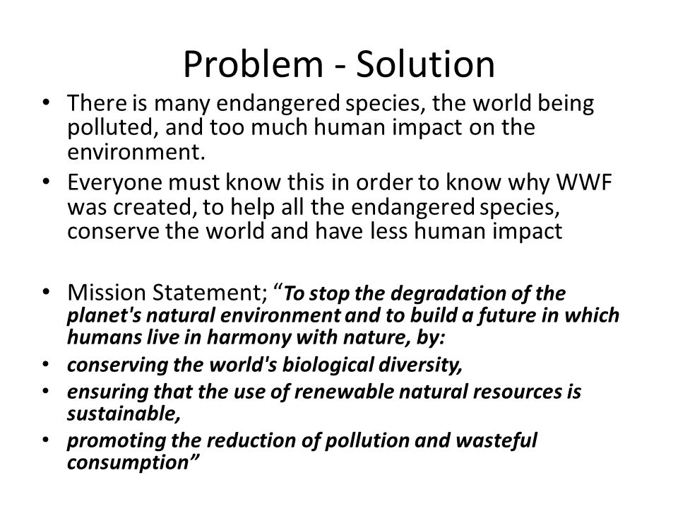 endangered species and the impact on
