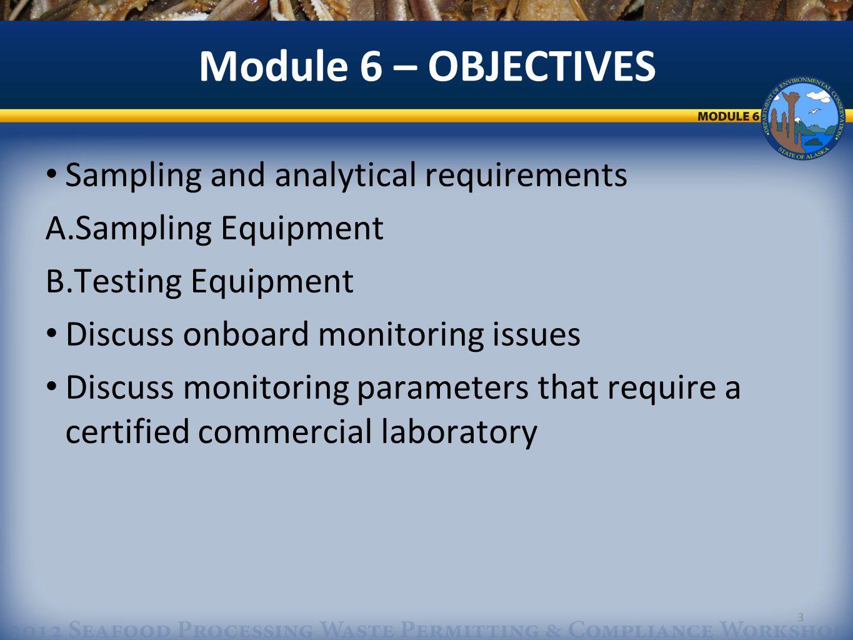 3 Sampling and analytical requirements A.Sampling Equipment B.