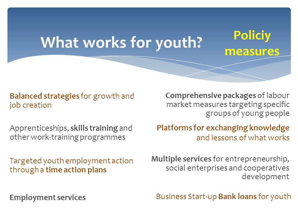 What works for youth.
