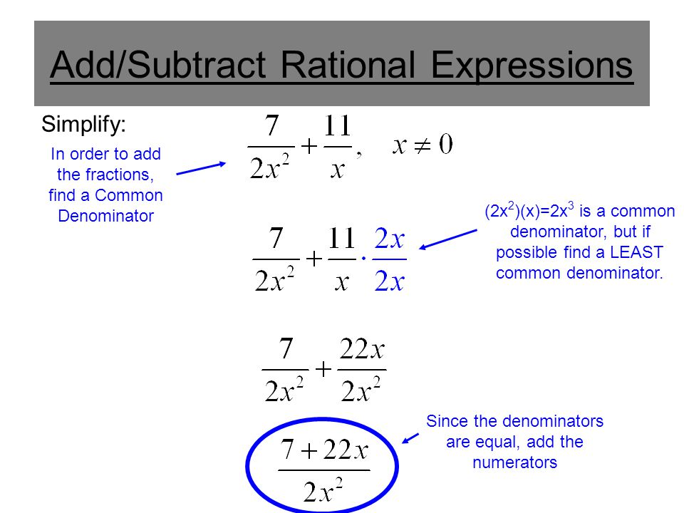 Rational expressions addition and subtraction adding and 4 addsubtract ccuart Gallery