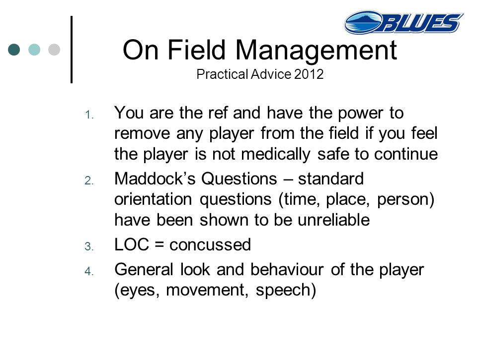 On Field Management Practical Advice