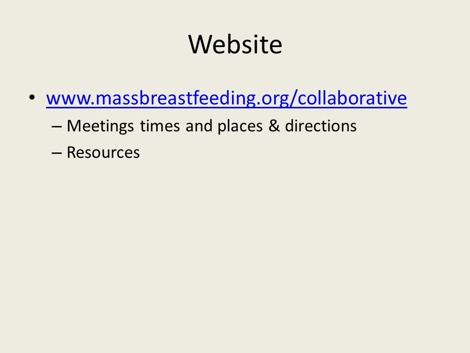 Website   – Meetings times and places & directions – Resources