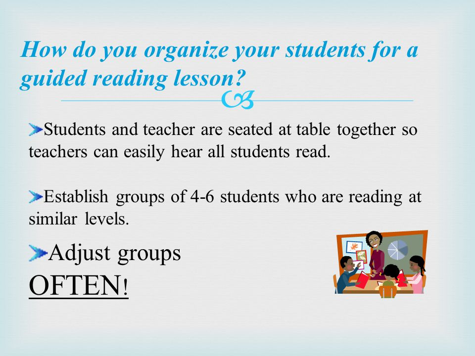 What should students know before beginning guided reading.