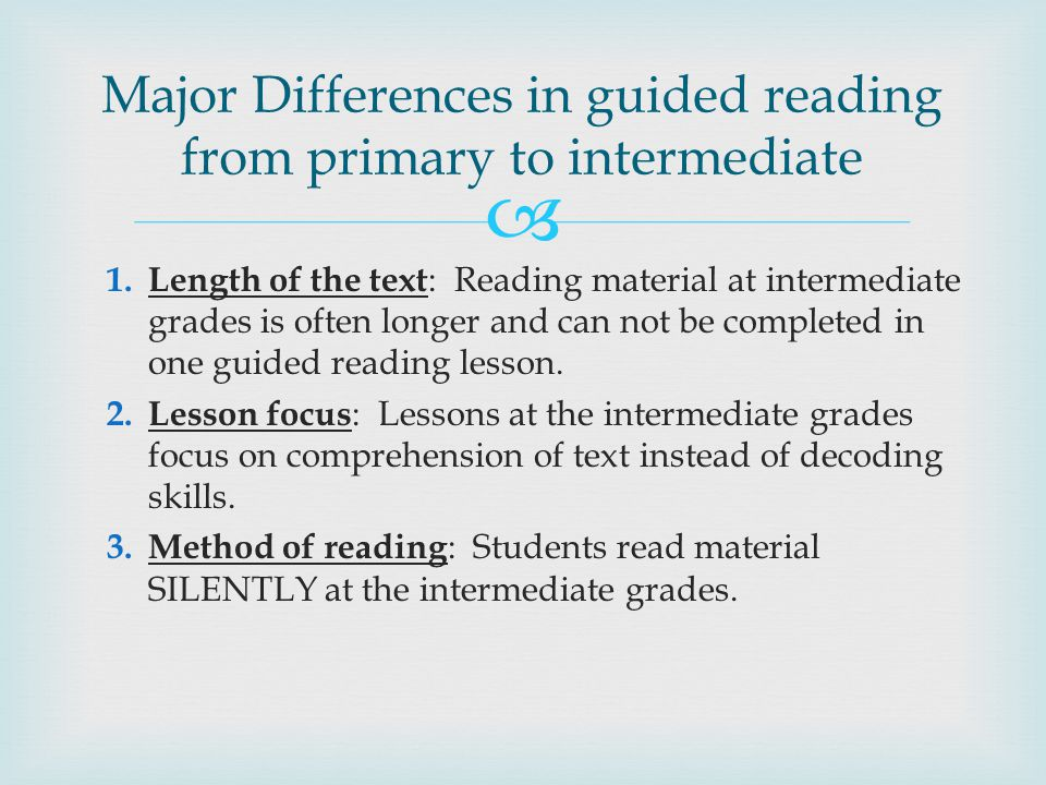   Set strategy focus  Select Text  Introduce Text  Read Text  Discuss and Revisit Text  Respond to Text Essential Elements of Guided Reading