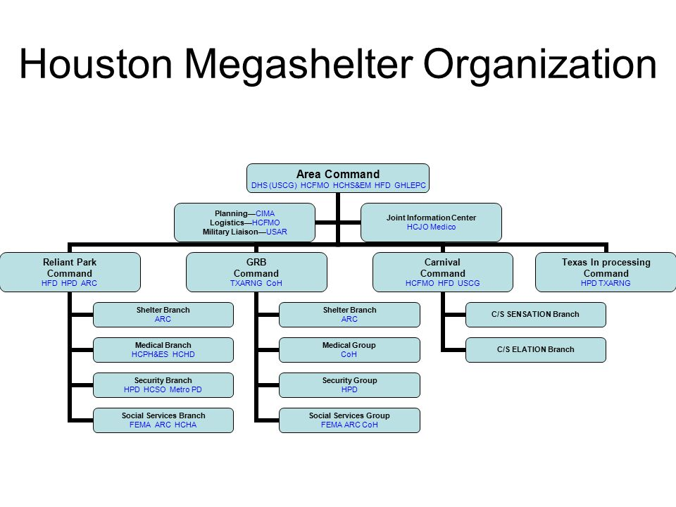 Houston Megashelter Organization