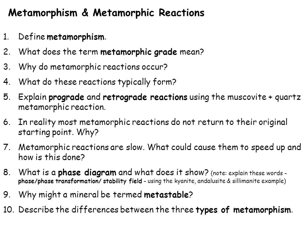 Metamorphism. Metamorphic Rocks & the Rock Cycle. - ppt download