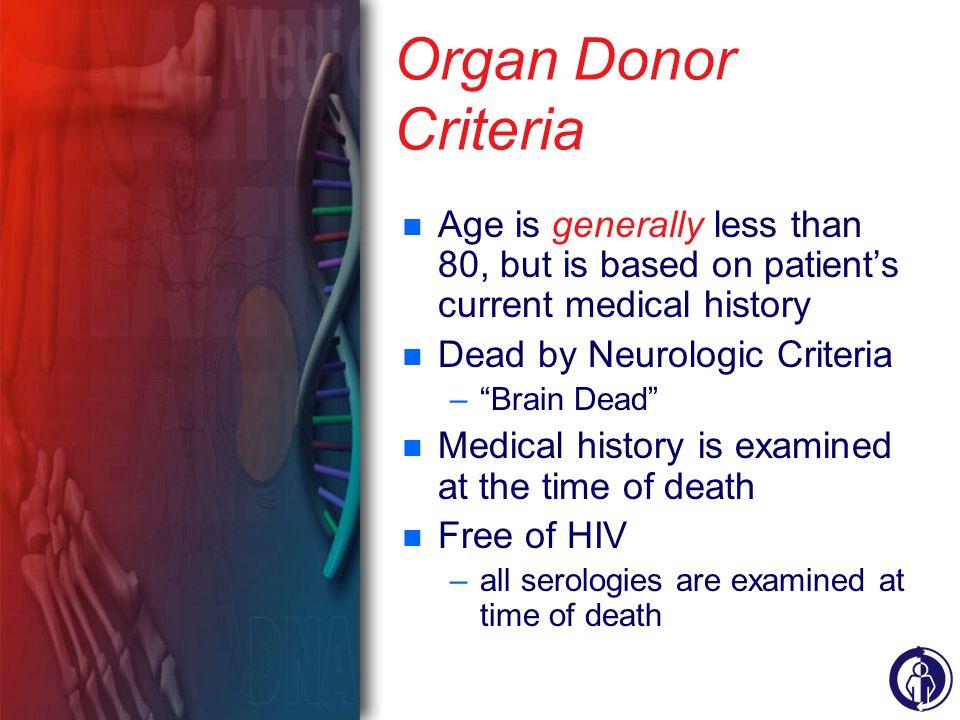 Organ transplant critieria hiv