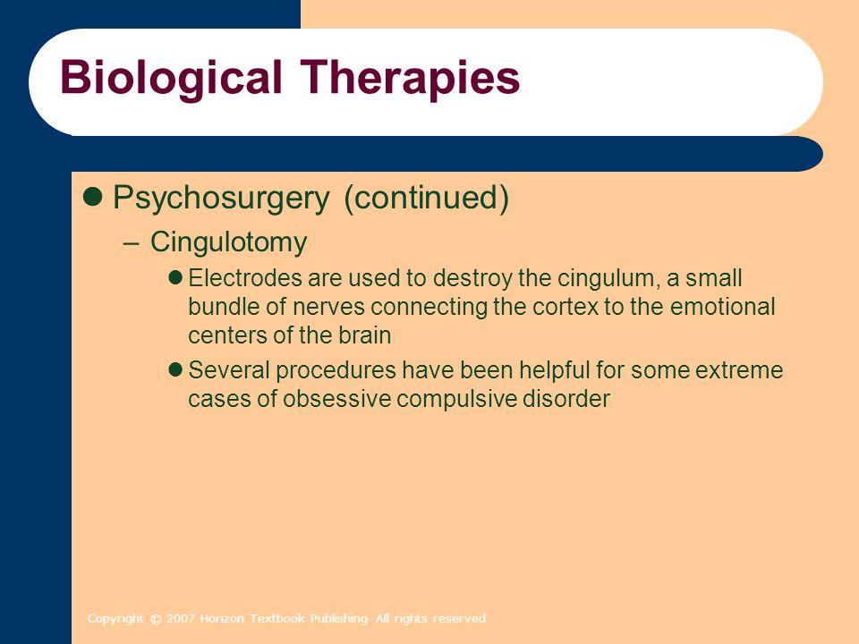 Psychological Therapies Chapter 16 Copyright 2007 Horizon Textbook ...