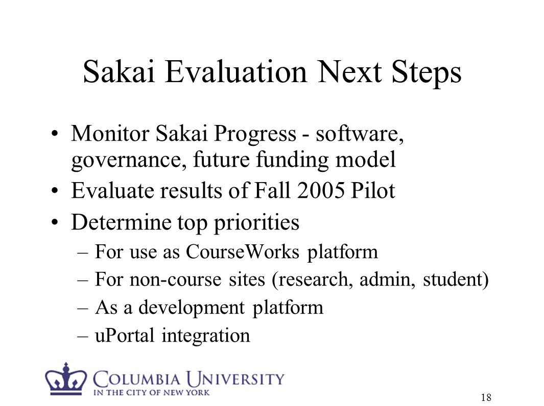 columbia university courseworks sakai
