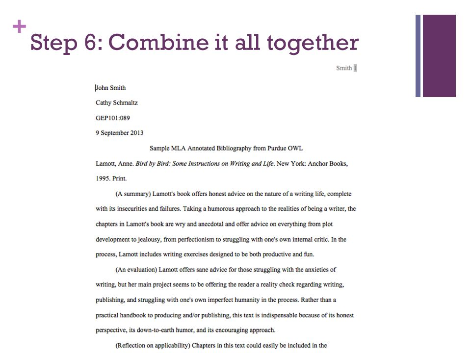 + Step 6: Combine it all together