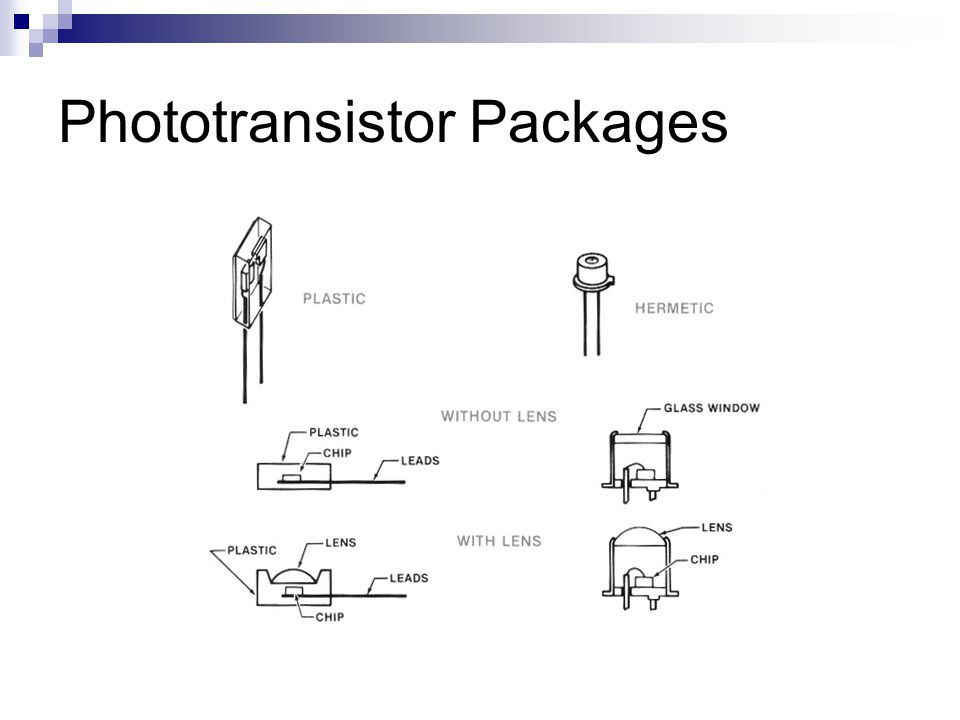 Phototransistor Packages