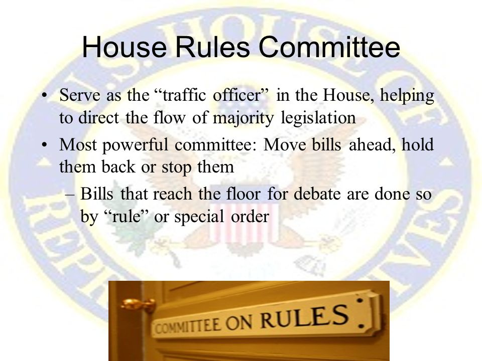 7 House Rules Committee ...