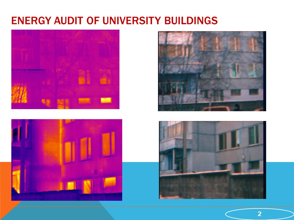 2 ENERGY AUDIT OF UNIVERSITY BUILDINGS