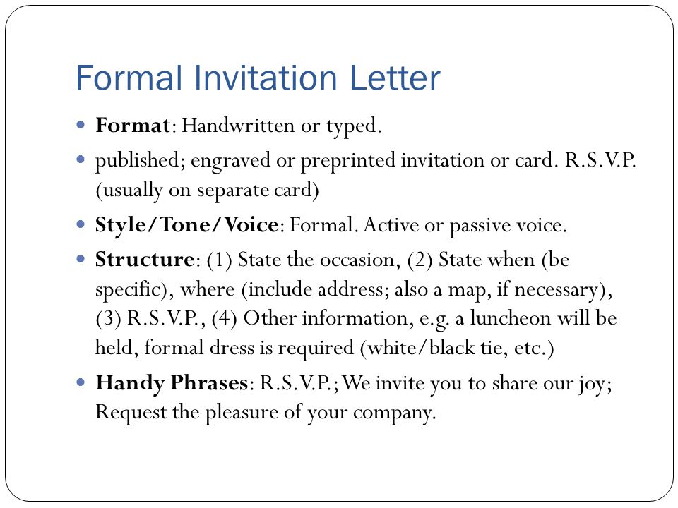 Hora hedayati invitation letter what is an invitation letter an formal invitation letter format handwritten or typed stopboris Image collections