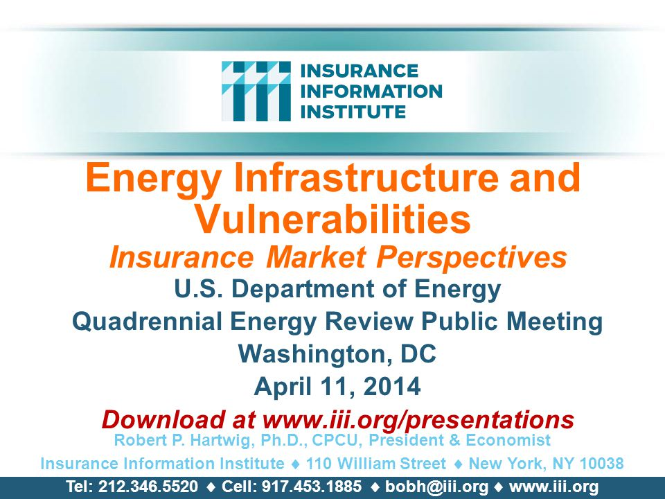 Energy Infrastructure and Vulnerabilities Insurance Market Perspectives U.S.