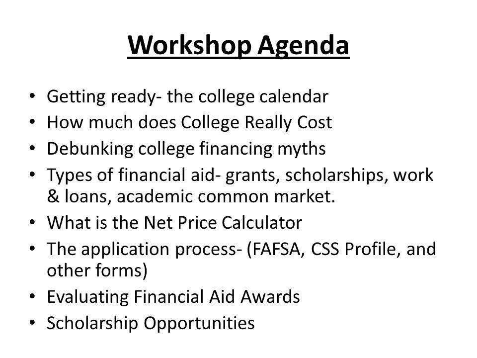 College Financing Workshop Workshop Agenda Getting ready the – Css Profile Pre-application Worksheet