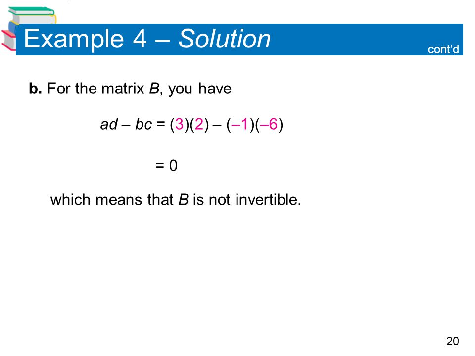 20 Example 4 – Solution b.