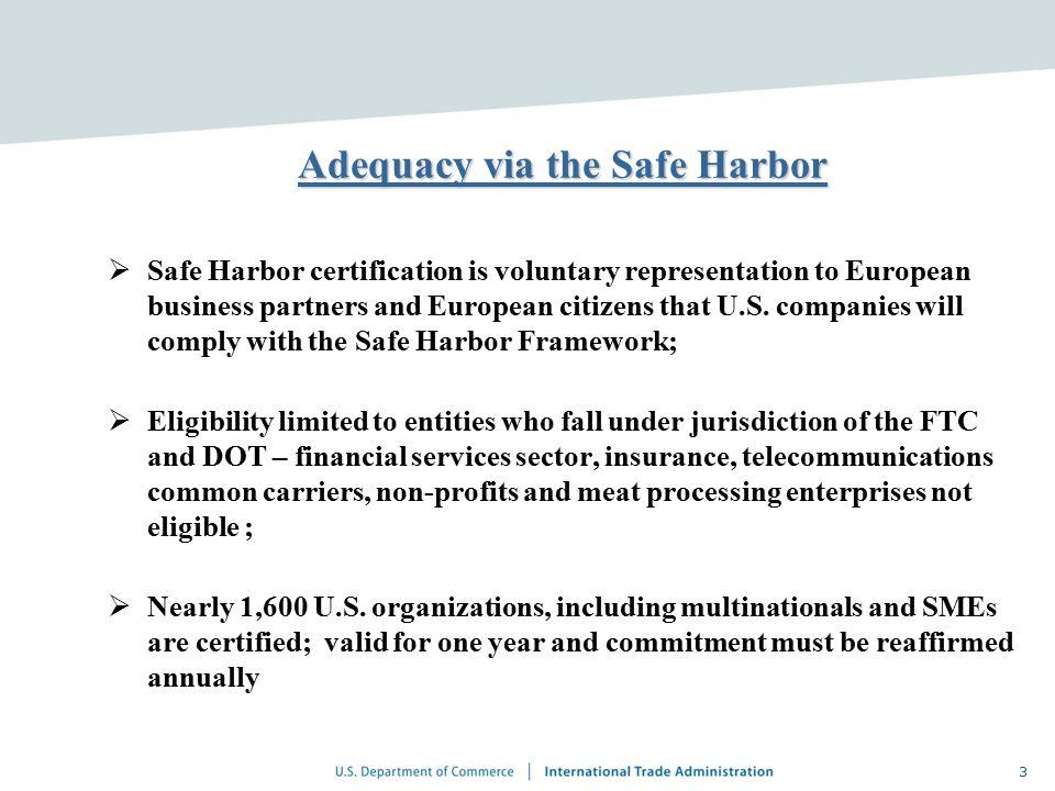 Privacy Safe Harbor Certification - Best Harbor 2018