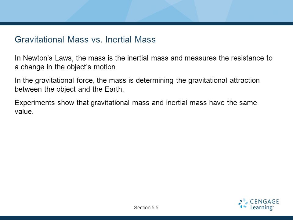 Gravitational Mass vs.