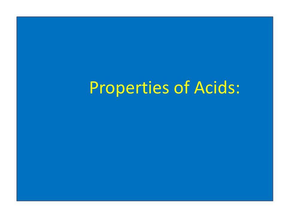 Properties of Acids: