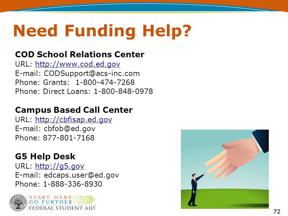 72 Need Funding Help
