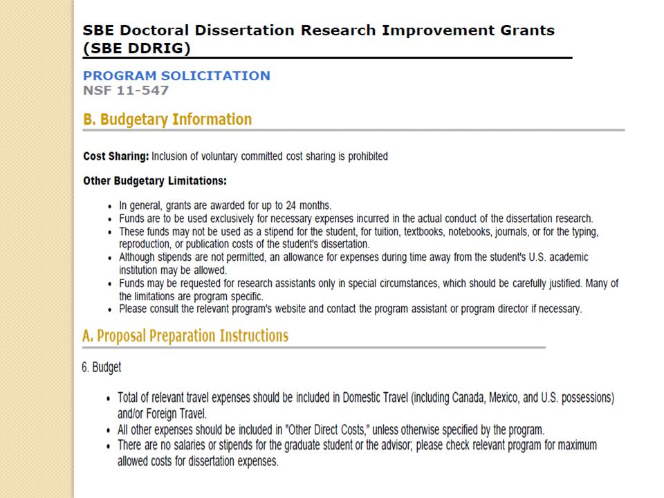 sbe doctoral dissertation research Sbe doctoral dissertation research improvement grants doctoral dissertation research improvement grants nsf graduate school dissertation research.