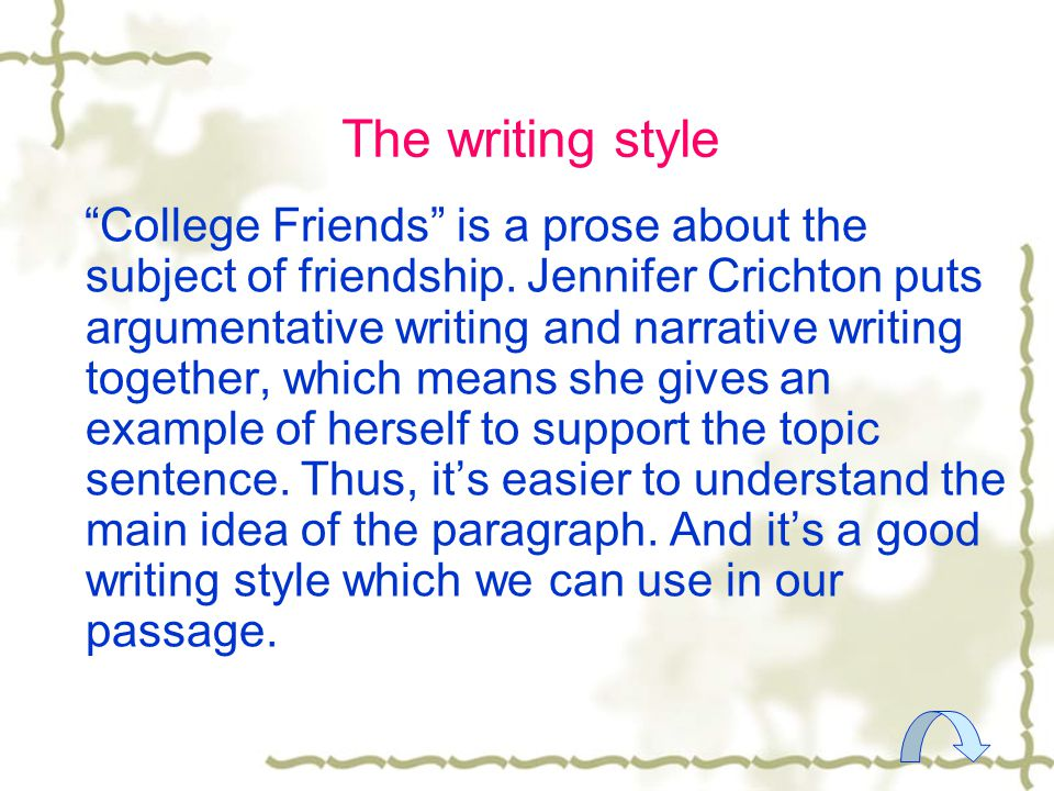 narrative essay about friendship When writing an essay on friendship, there are a few approaches that a writer can take a narrative essay is an article that intends to deliver a narrative.