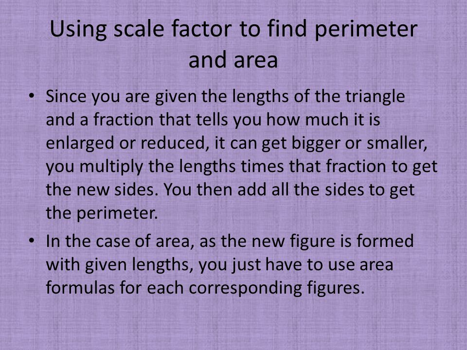 Chapter 7 and 8 by ou suk kwon comparing 2 numbers that are 24 using scale factor to find perimeter ccuart Images
