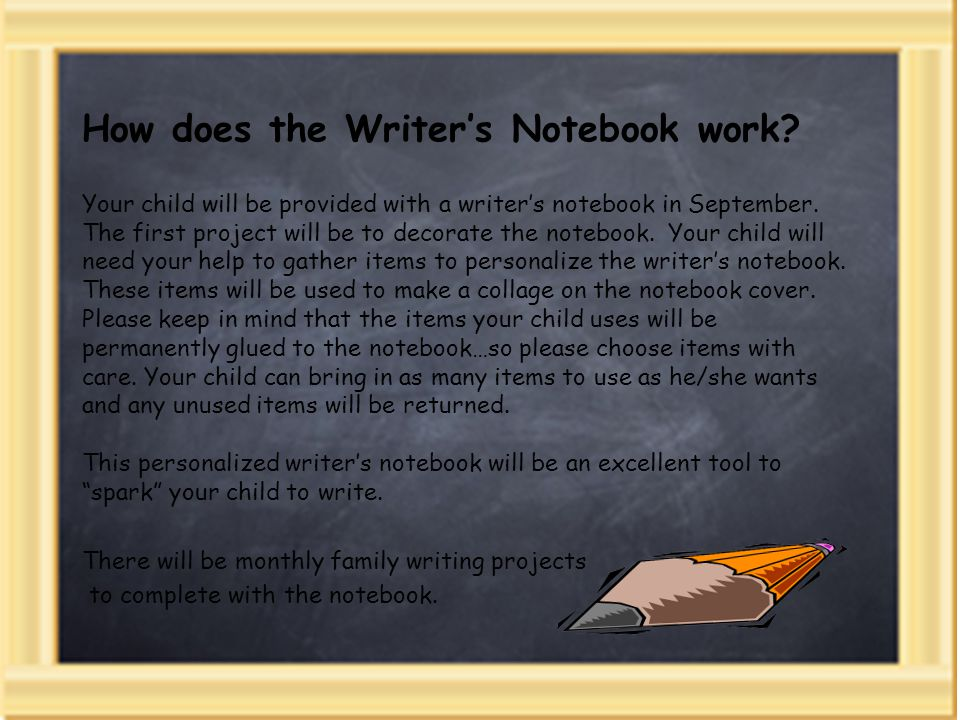 writer s notebook what is a writer s notebook young writers  how does the writer s notebook work