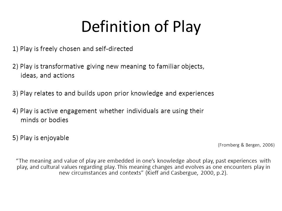 explain the characteristics of freely chosen self directed play Describe the characteristics of freely chosen, self-directed play and leisure.