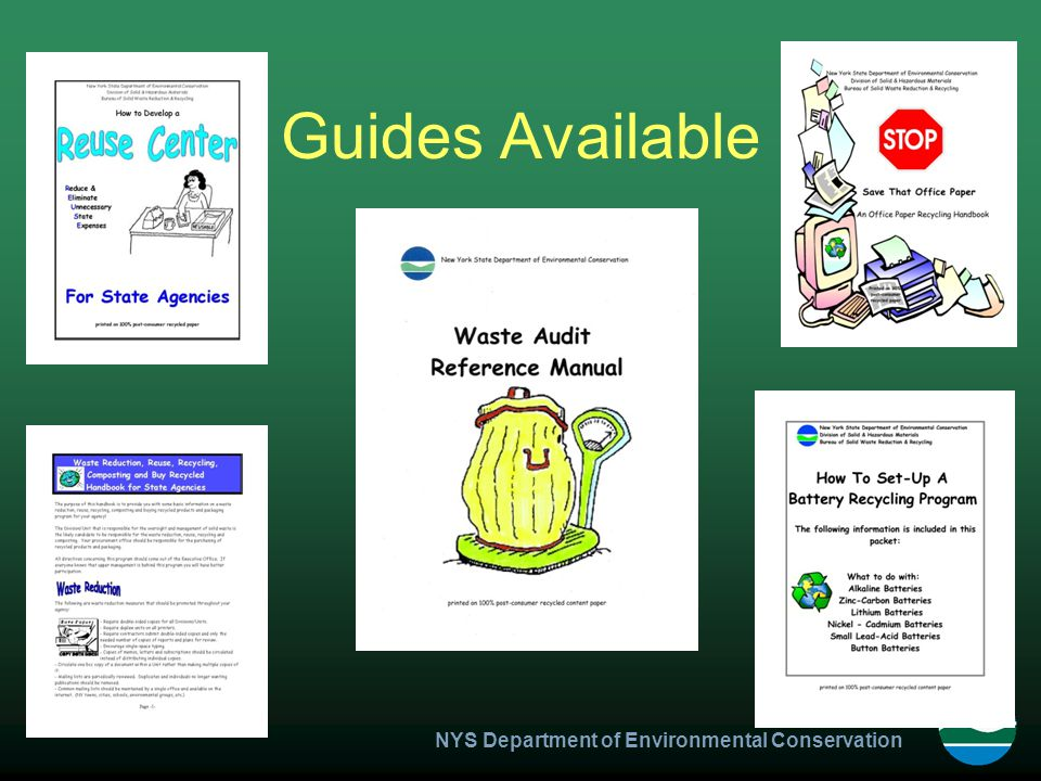 NYS Department of Environmental Conservation Guides Available