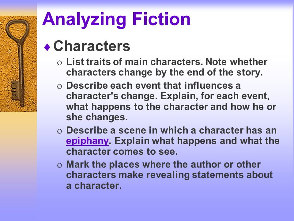 analysis of fiction Literary analysis definition: analysis is the practice of looking closely at small parts to see how they affect the whole literary analysis focuses on how plot.