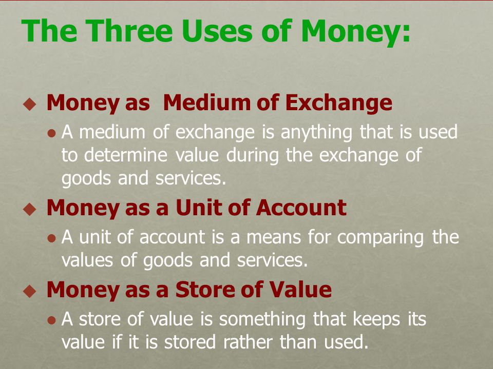 Money is also easier to tax. So a monetary system is better than a barter system.