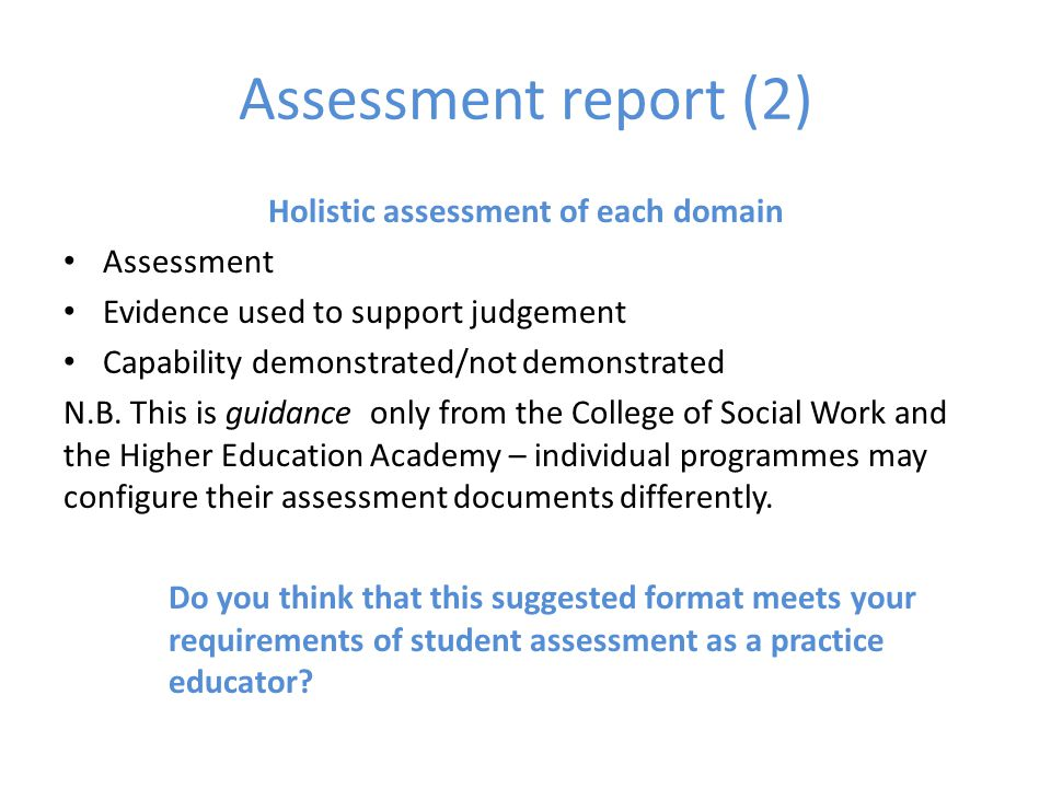 "Holistic Assessment "" Understanding What A Social Worker Does Will"