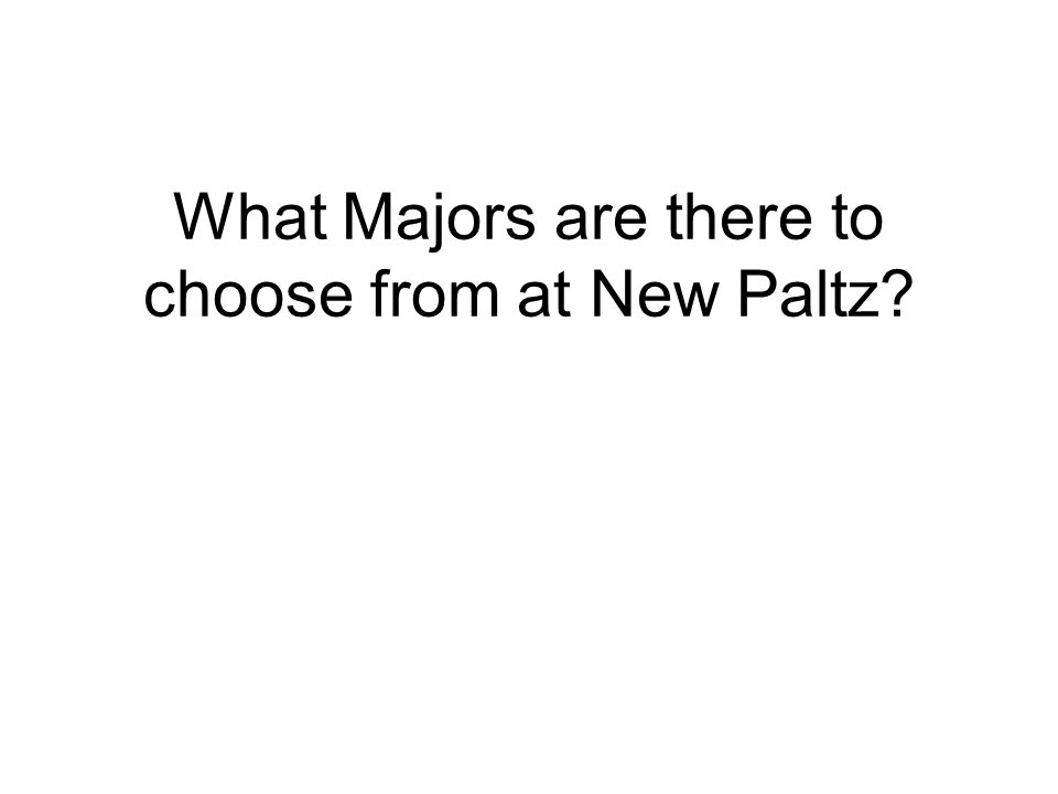 What Majors are there to choose from at New Paltz